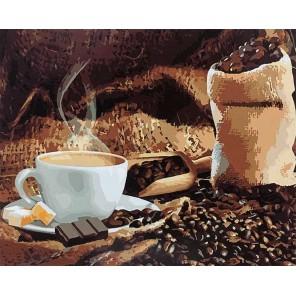 Аромат кофе Раскраска картина по номерам акриловыми красками на холсте