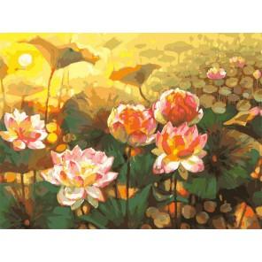Таинственный мир лотоса (художник Елена Калашникова) Раскраска картина по номерам акриловыми красками на холсте Белоснежка