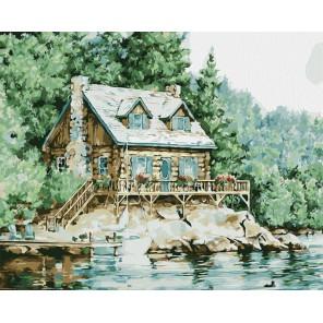 Летний домик Раскраска картина по номерам акриловыми красками на холсте