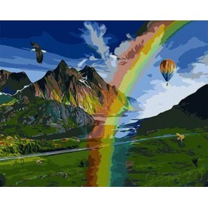 Чудесный край Раскраска картина по номерам акриловыми красками на холсте