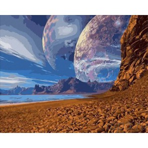 Двулуние Раскраска картина по номерам акриловыми красками на холсте