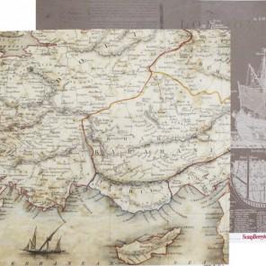 Навигация. Лавка Древностей Бумага двусторонняя для скрапбукинга, кардмейкинга ScrapBerry's
