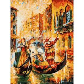Венецианская гондола (художник Леонид Афремов) Раскраска картина по номерам акриловыми красками на холсте Белоснежка