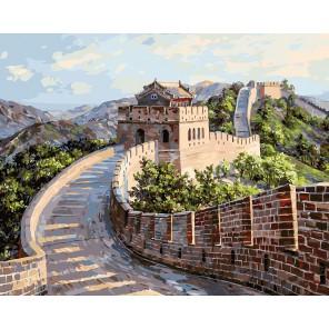 Великая Китайская стена Раскраска картина по номерам акриловыми красками на холсте Белоснежка