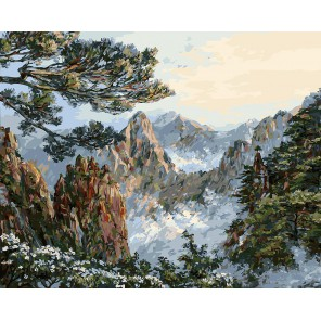 Китай. Хуаншань Раскраска картина по номерам акриловыми красками на холсте Белоснежка