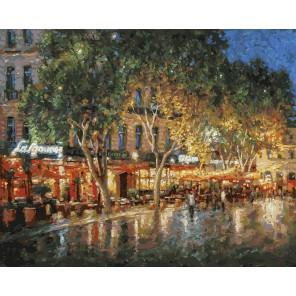 Ночные улицы Рима (художник Игорь Разживин) Раскраска картина по номерам акриловыми красками на холсте Белоснежка
