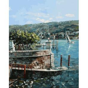 Изола-Белла на озере Лаго-Маджоре Раскраска картина по номерам акриловыми красками на холсте Белоснежка