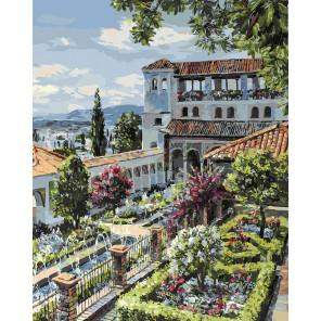 Сады Гранады Раскраска картина по номерам акриловыми красками на холсте Белоснежка