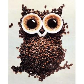 Кофейная сова Раскраска картина по номерам акриловыми красками на холсте