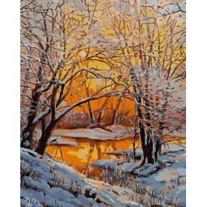 Зимний вечер Раскраска картина по номерам на холсте