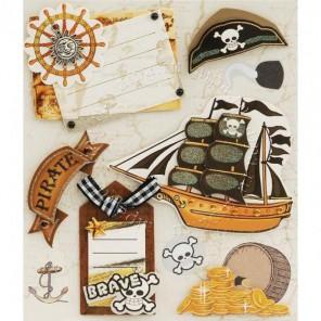 Храбрые пираты Набор 3D стикеров Белоснежка