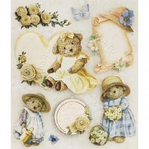 Медведицы в платьях Набор 3D стикеров Белоснежка