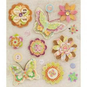 Волшебные цветы Набор 3D стикеров Белоснежка