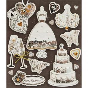 Свадебное платье Набор 3D стикеров Белоснежка