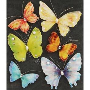 Бабочки с бусинками Набор 3D стикеров Белоснежка