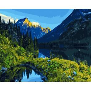 Алтайский пейзаж Раскраска картина по номерам акриловыми красками на холсте