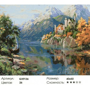 Замок в горах Раскраска картина по номерам акриловыми красками на холсте
