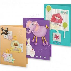 Веселая фантазия Набор для создания  3-х  открыток своими руками Белоснежка