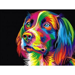 Радужный пес Раскраска картина по номерам акриловыми красками на холсте