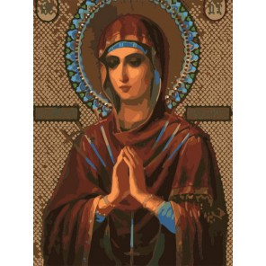 Богородица Семистрельная Раскраска картина по номерам акриловыми красками на холсте Menglei