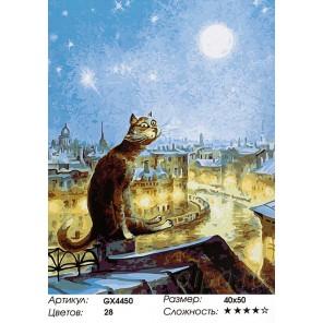 Огни ночного города Раскраска картина по номерам на холсте