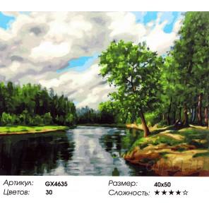 Количество красок и сложность Летние облака Раскраска картина по номерам акриловыми красками на холсте