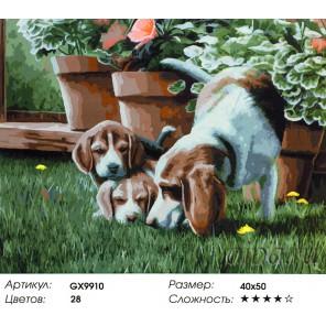 Трое (художник Даниэль Кевин) Раскраска картина по номерам акриловыми красками на холсте