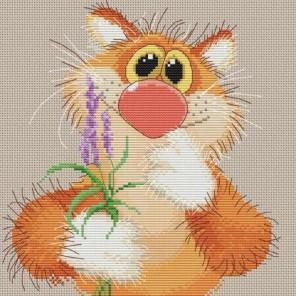 Обаятельный котик Набор для вышивания Белоснежка