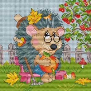 Ёжик садовод Набор для вышивания Белоснежка