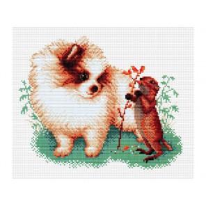 Маленькие друзья Набор для вышивания Белоснежка