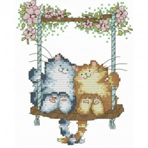 Влюблённые кошки Набор для вышивания Белоснежка