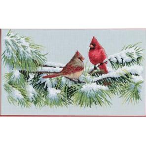 Зимние кардиналы 35178 Набор для вышивания Dimensions ( Дименшенс )