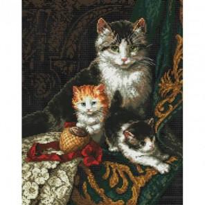 Кошачье трио Набор для вышивания Белоснежка