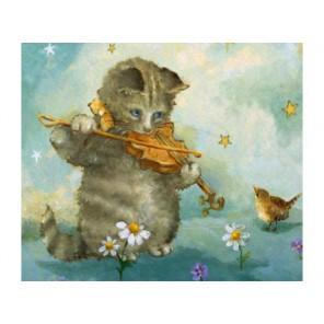 Котенок - скрипач Набор для вышивания Белоснежка