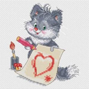 Котёнок - художник Набор для вышивания Белоснежка