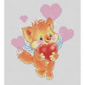 Котёнок с сердечком Набор для вышивания Белоснежка