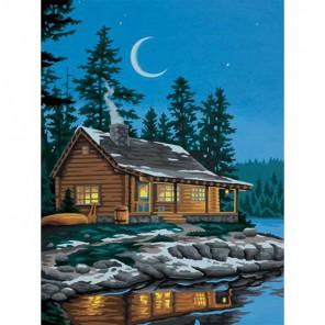 Хижина у озера 91413 Раскраска по номерам акриловыми красками Dimensions
