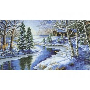Зимняя речка Набор для вышивания Белоснежка