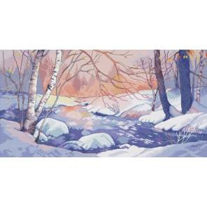 Зимний пейзаж Набор для вышивания Белоснежка