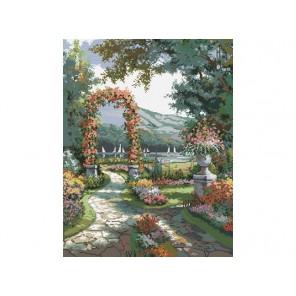 Арка в саду Набор для вышивания Белоснежка