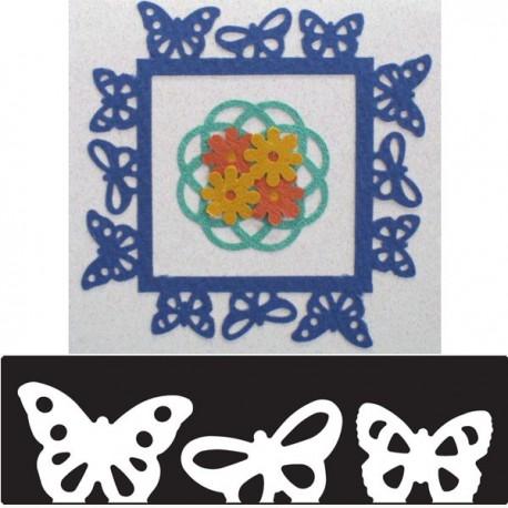 Бордюр Бабочки Фигурный дырокол для скрапбукинга, кардмейкинга Martha Stewart Марта Стюарт