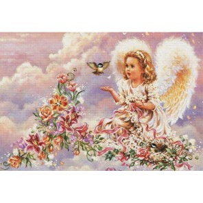 Серебристый ангел Набор для вышивания Белоснежка