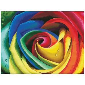 Цветные лепестки Набор для вышивания Белоснежка