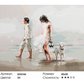 Прогулка по пляжу Раскраска картина по номерам акриловыми красками на холсте