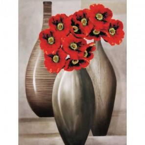 Красные цветы Набор для вышивания Белоснежка
