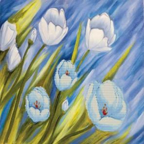 Цветы ветра Набор для вышивания Белоснежка