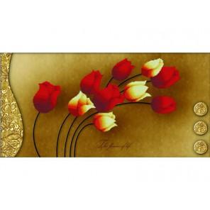 Тюльпаны на золотом Набор для вышивания Белоснежка