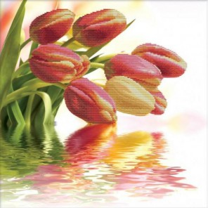 Весенние тюльпаны Набор для вышивания Белоснежка