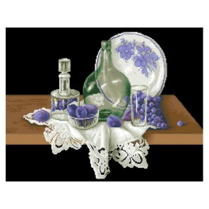 Голубой натюрморт Набор для вышивания Белоснежка