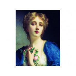 Девушка с розами Набор для вышивания Белоснежка